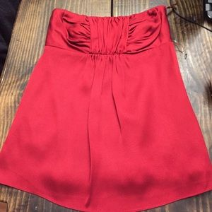 Banana republic strapless red top sz 0 holiday